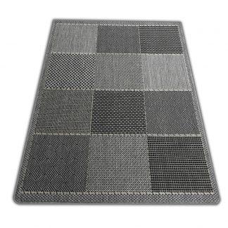 Modny płasko tkany dywan Sizal nowoczesny Belgijski Krata szara