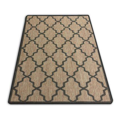 Płasko tkany dywan Sizal oryginalny Belgijski Koniczyna brązowa