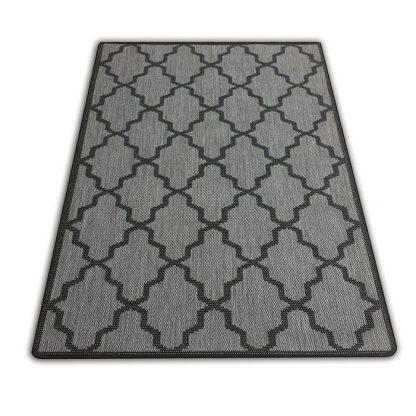Nowoczesny płasko tkany dywan Sizal Belgijski koniczyna marokańska szara