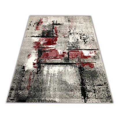 Modny dywan Skandynawski Marmurek czerwony