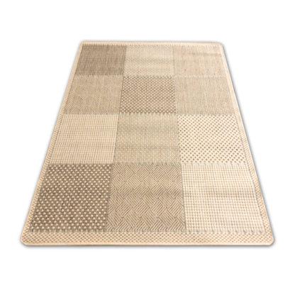 Nowoczesny modny płasko tkany dywan Sizal Belgijski krata jasna