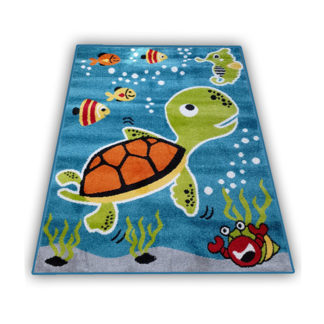 kolorowy dywan żółwik