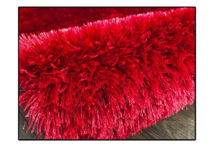 Dywan shaggy czerwony