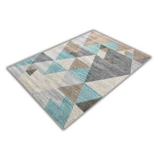 Nowoczesny gruby miękki dywan niebieski Mozart 772B