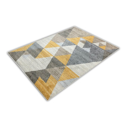 Nowoczesny gruby miękki dywan żółty Mozart 772Y