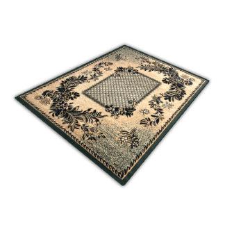 Klasyczny oryginalny dywan ALFA kratka zielona