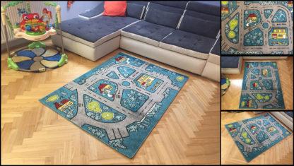 Kolorowy dywan dziecięcy Uliczki idealny dla chłopca