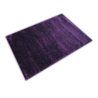 Nowoczesny dywan shaggy fioletowy błyszczący