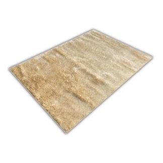 Nowoczesny dywan shaggy krem błyszczący