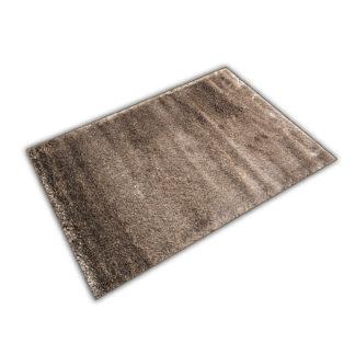 Nowoczesny dywan shaggy mocca błyszczący