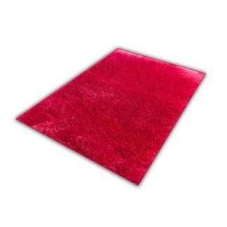 Nowoczesny dywan shaggy różowy błyszczący