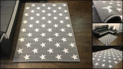 Modny dywan belgijski New Idea gwiazdki
