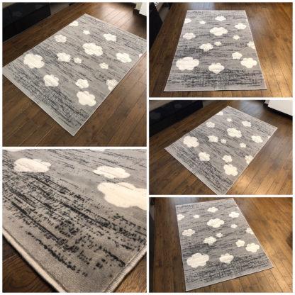 Nowoczesny dywan New Idea chmurki