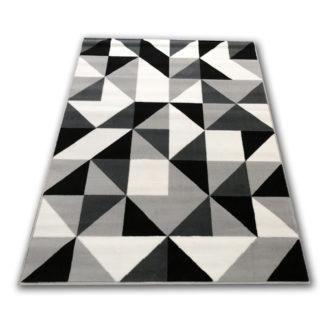 Nowoczesny dywan belgijski trójkąciki szare
