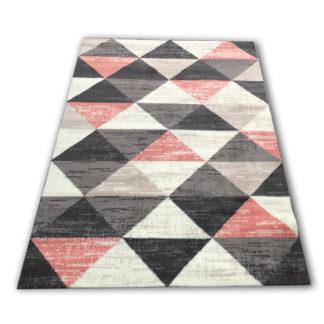 Nowoczesny dywan belgijski trójkąty