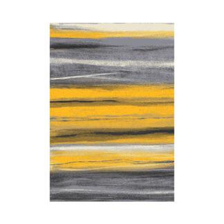 Modny miękki gruby dywan turecki paski żółte