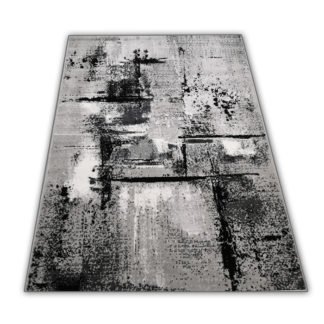 Modny dywan New Idea marmurek szary