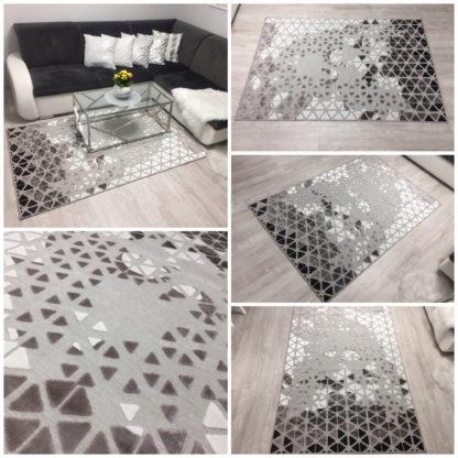 Nowoczesny ekskluzywny miękki dywan w trójkąty