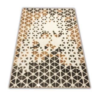 Najwyższej jakości nowoczesny miękki złoty dywan w trójkąciki