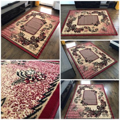 Bordowy dywan w kratkÄ™
