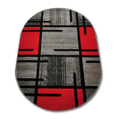 Owalny dywan czerwony