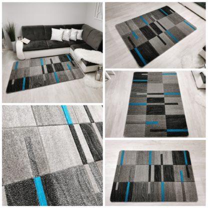 turkusowy modny dywan