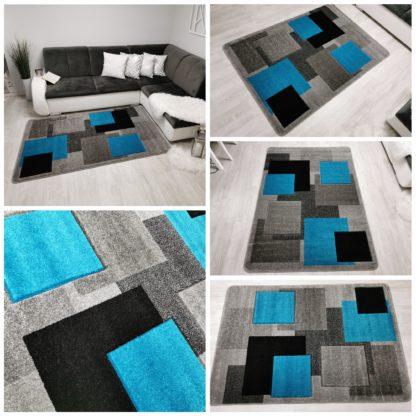 turkusowy dywan modny