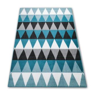 Miękki dywan turkusowy w trójkąty New Idea
