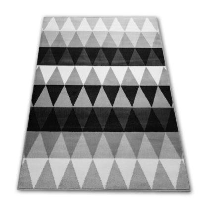 Nowoczesny dywan w szare trójkąty New Idea