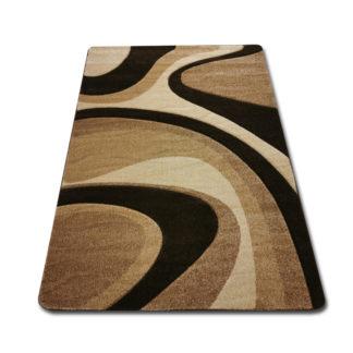 Modny dywan wycinany fala ciemna