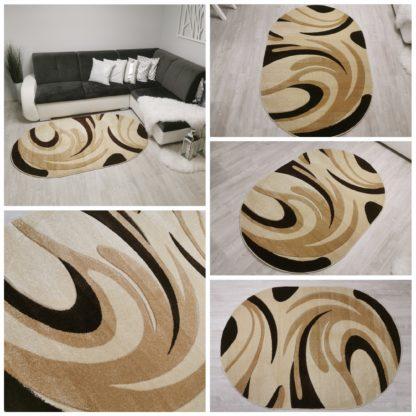 Modny dywan Turecki owalny pazurek