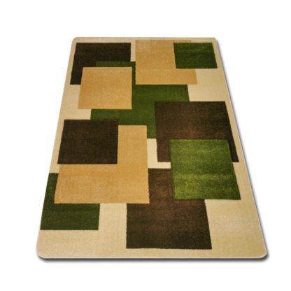 Dywan w kwadraty zielone