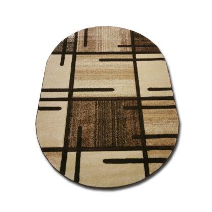 Nowoczesny dywan Turecki owalny płotek