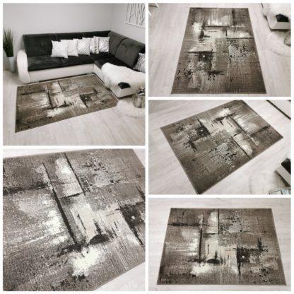 Modny dywan New Idea Marmurek beżowy