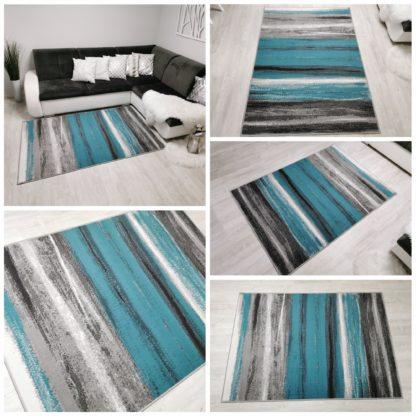 Modny turkusowy dywan