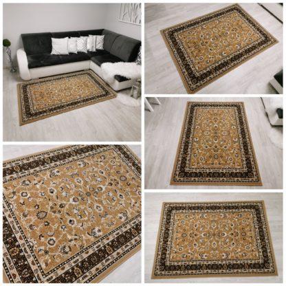 Klasyczny tradycyjny dywan beżowy
