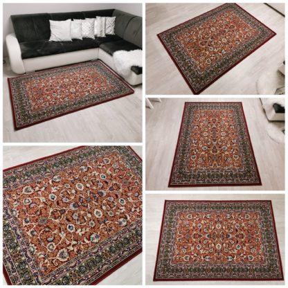 Tradycyjny dywan w ramce bordo