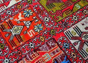 dywan kolorowe wzorki