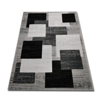Dywan w kwadraty szare