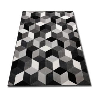 Nowoczesny gęsty dywan Canvas Royal 3D szary