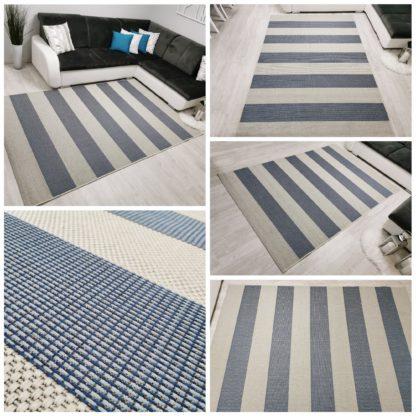 Niebieski dywan sizal
