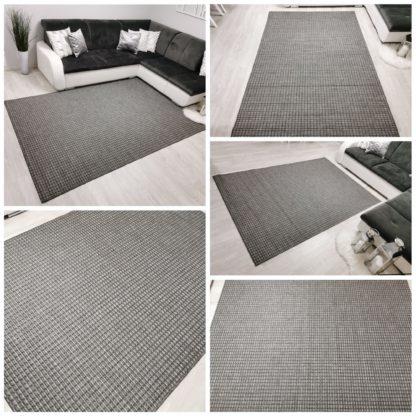 Szary gładki dywan sizal
