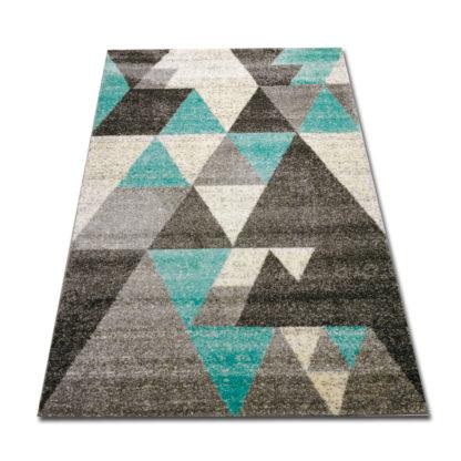 Szaro turkusowy dywan