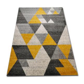 żółto szary dywan