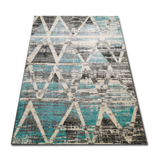 dywan turkusowe trójkąty