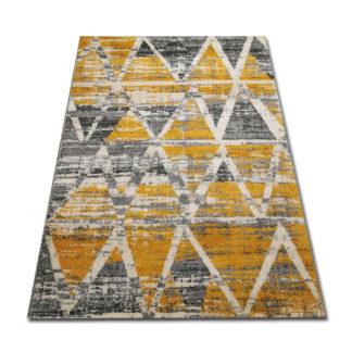 Współczesny żółty dywan