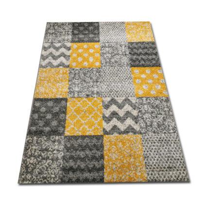 Delikatny nowoczesny dywan żółty New Gold 993