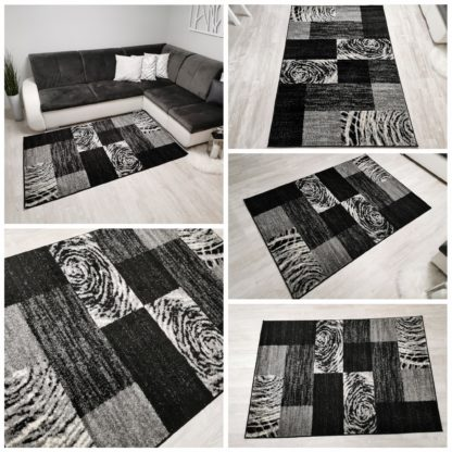 Nowoczesny dywan czarno biały