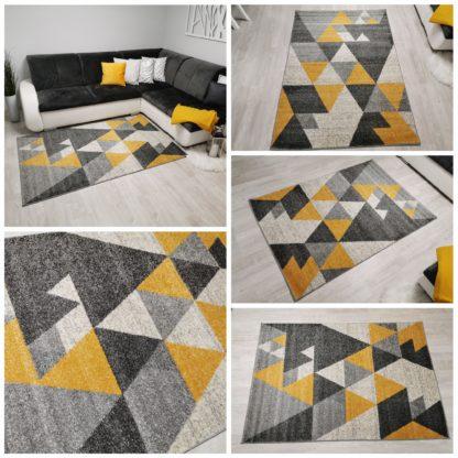 Modny żółto szary dywan