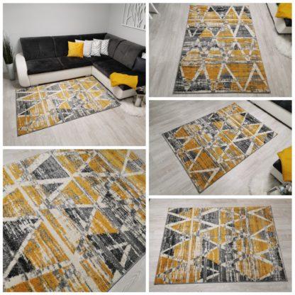 Stonowany modny żółty dywan New Gold 929